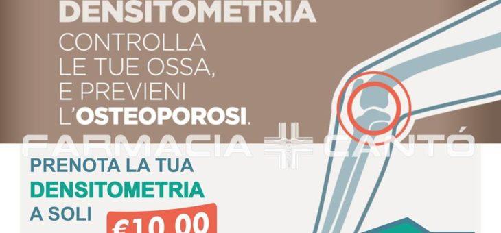 CONSULENZA DENSITOMETRIA OSSEA – 29 OTTOBRE 2019