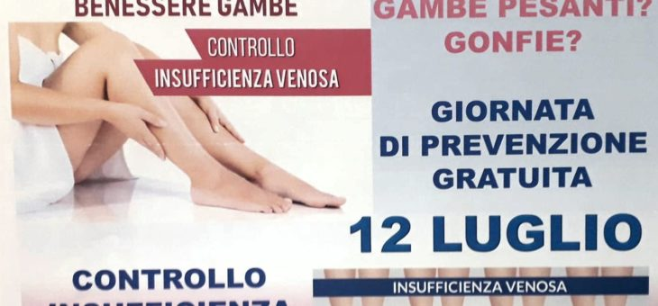 GIORNATA DI PREVENZIONE  – 12 LUGLIO 2021